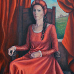 Nobildonna di Carmen Cassighi, 2018 - olio su tela 80x100. Premio della Combinata 2018